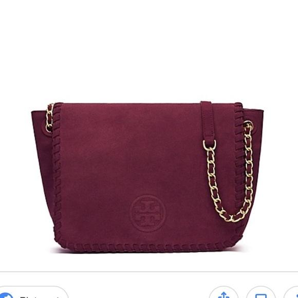 3580e02375aa Tory Burch Marion Suede Small Flap Shoulder Bag. M 5a90d4c9daa8f63c2232125c